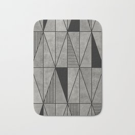 Concrete triangles Bath Mat