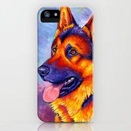 Colorful German Shepherd Dog iPhone Case