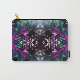 Textured Graffiti Print Carry-All Pouch