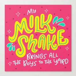 Milk Shake Canvas Print