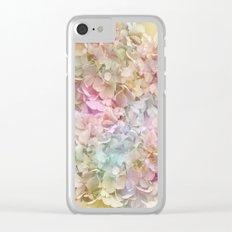 Pastel Hydrangeas Clear iPhone Case