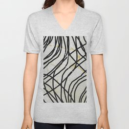 Abstract Mess - minimal, marbled, simple, modern design Unisex V-Neck
