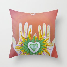 Hands Of Love Throw Pillow