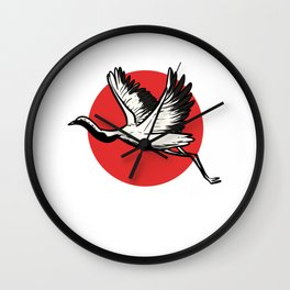 Japan Flag Swan Japanese Activist Gift Wall Clock