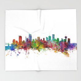 Vancouver Canada Skyline Throw Blanket