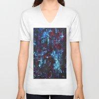 velvet underground V-neck T-shirts featuring Velvet by Natso Creations