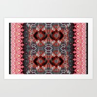 ikat Art Prints featuring Ikat by Sofia Perina-Miller