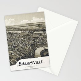 Aerial View of Sharpsville, Pennsylvania (1901) Stationery Cards