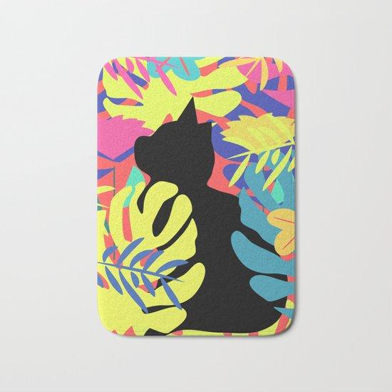 Tropical cat Bath Mat