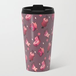 Pink Meat and Mouths Travel Mug