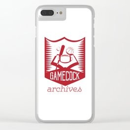 Gamecock Archives Secondary Logo Clear iPhone Case