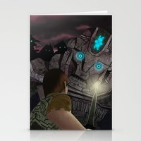 shadow of the colossus Stationery Cards featuring Shadow of the Colossus by MetroidHugs
