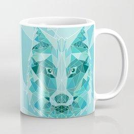 Green Emerald Wolf Coffee Mug