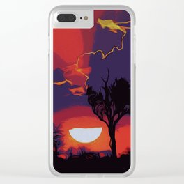 Flaming Skies Clear iPhone Case