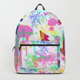 Modern abstract colorful watercolor nautical anchor splatters Backpack
