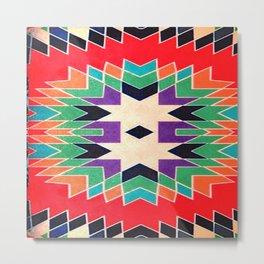 Fashion Icon Aztec Remix Pattern 4 Metal Print