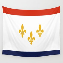 flag of new orleans,NOLA,Crescent City,Big Easy,Nawlins, jazz,Lousiana,french,cajun,treme Wall Tapestry