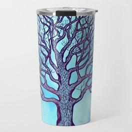 Tree of Life Blue Zen Design Travel Mug
