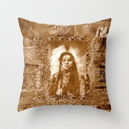 Not So Colorful Past Throw Pillow