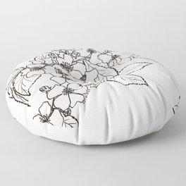 Vine Roses Floor Pillow