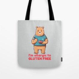 I'm allergic of gluten free Tote Bag