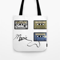 tape Tote Bags featuring tape by Jeffrey Bourgeois