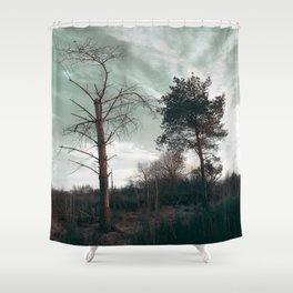 Dead Tree - Live and Die Shower Curtain