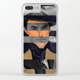 Modigliani's Portait of A Man with Hat & Gregory Peck Clear iPhone Case
