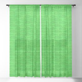 Palm Traffic! (Green) Sheer Curtain