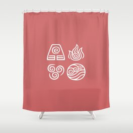 Bending All Four Elements – Fire Shower Curtain