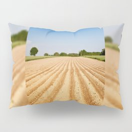 Ploughed agriculture field empty Pillow Sham