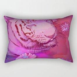 Tiger in Bath Rectangular Pillow