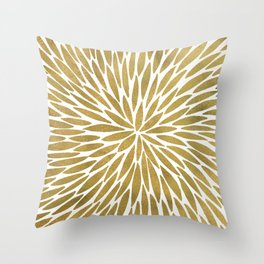 Golden Burst Throw Pillow