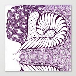 Purple Art Deco Doodle Design Canvas Print