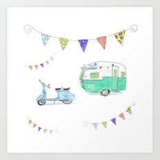 June Cleaver Goes Camping Art Print