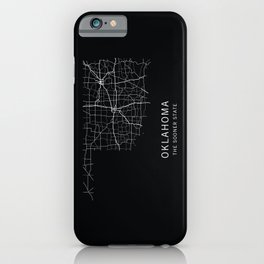 Oklahoma State Road Map iPhone Case