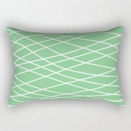 Sage Slanting Brush Strokes Rectangular Pillow