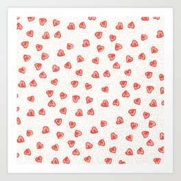 Sparkly hearts Art Print