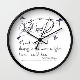 Cat Nap Haiku Wall Clock