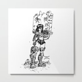 Cyborg of heavy working Metal Print