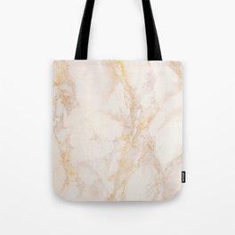 Gold Marble Natural Stone Gold Metallic Veining Beige Quartz Tote Bag