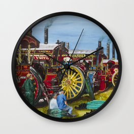Day at the Steam Up Wall Clock