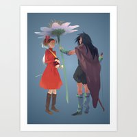 calcifer Art Prints featuring The Secret World by CromMorc