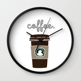 First I Need Coffee Drink Caffeine Beverages Beans Brewer Gift Wall Clock