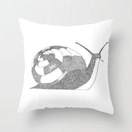 Snail - One Liner Artwork Throw Pillow