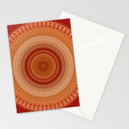 Vintage Orange Mandala Stationery Cards