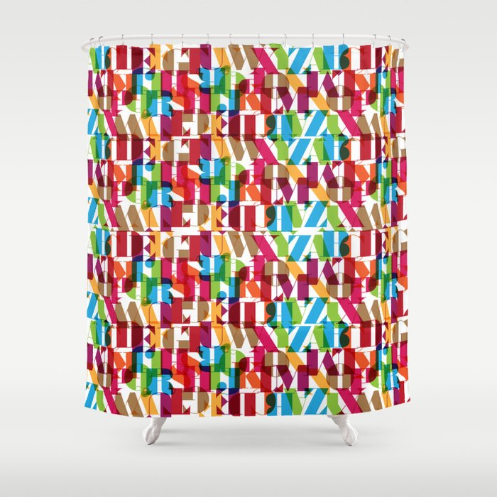 Letterform Fitting Shower Curtain