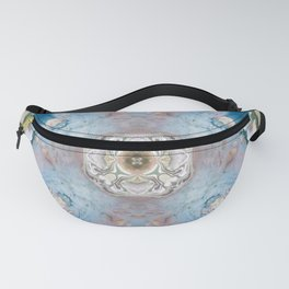 Blue Stone Abstract Design Fanny Pack