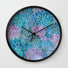 Floral Abstract 33 Wall Clock