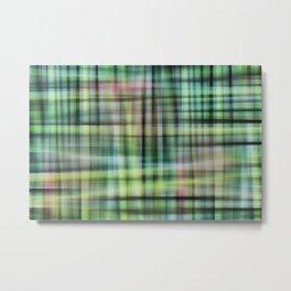 Modern Scottish Tartan Plaid Pattern Metal Print